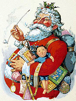 Nast' s frühe Version des Santa Clause