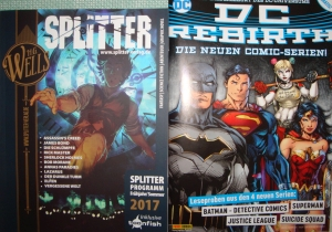 DC REBIRTH PREVIEW-HEFT und SPLITTER KATALOG